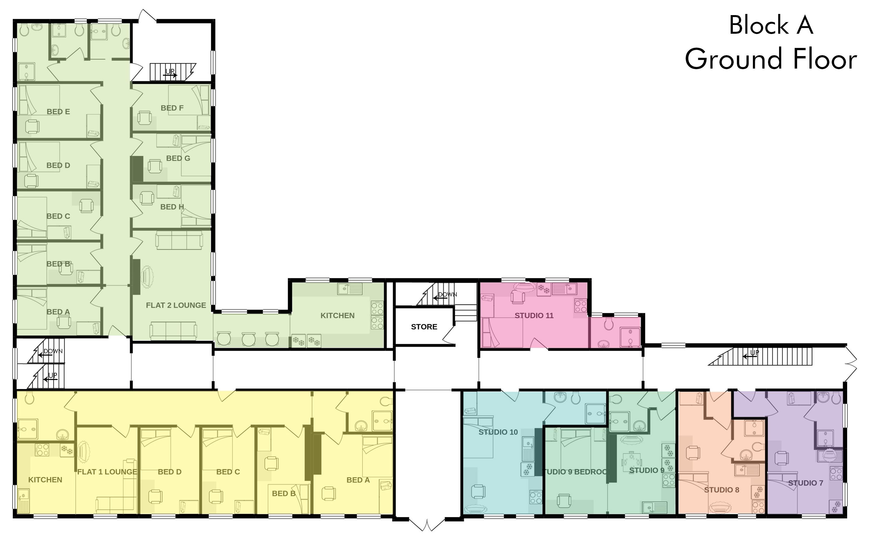 Studio 7, A City View floorplan