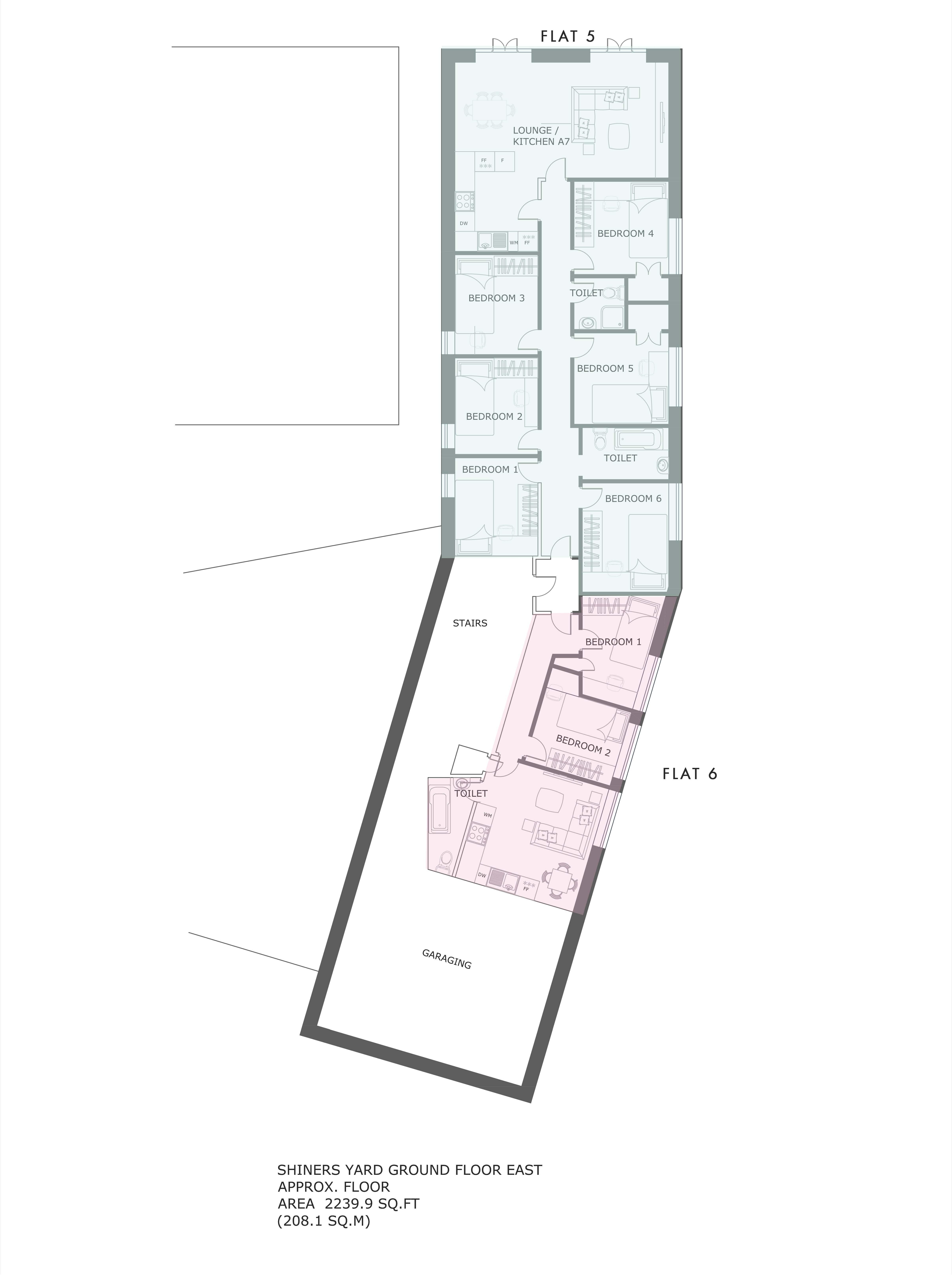 Flat 5 Shiners Yard, floorplans
